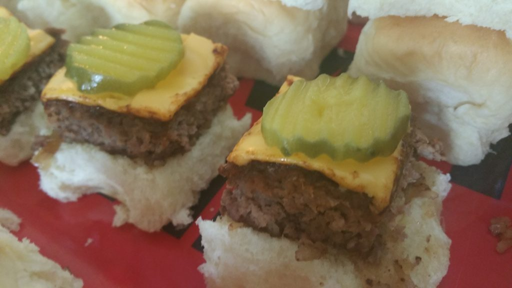 Pickles on top of Hobsess sliders