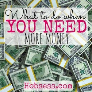 You Need More Money!