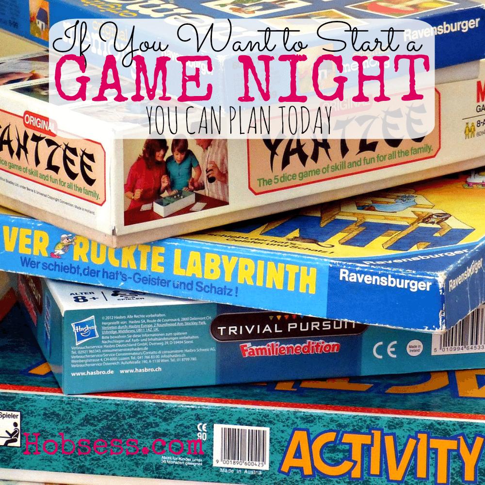 Start a Game Night