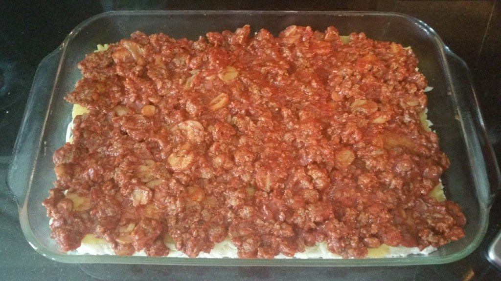 meat sauce layer