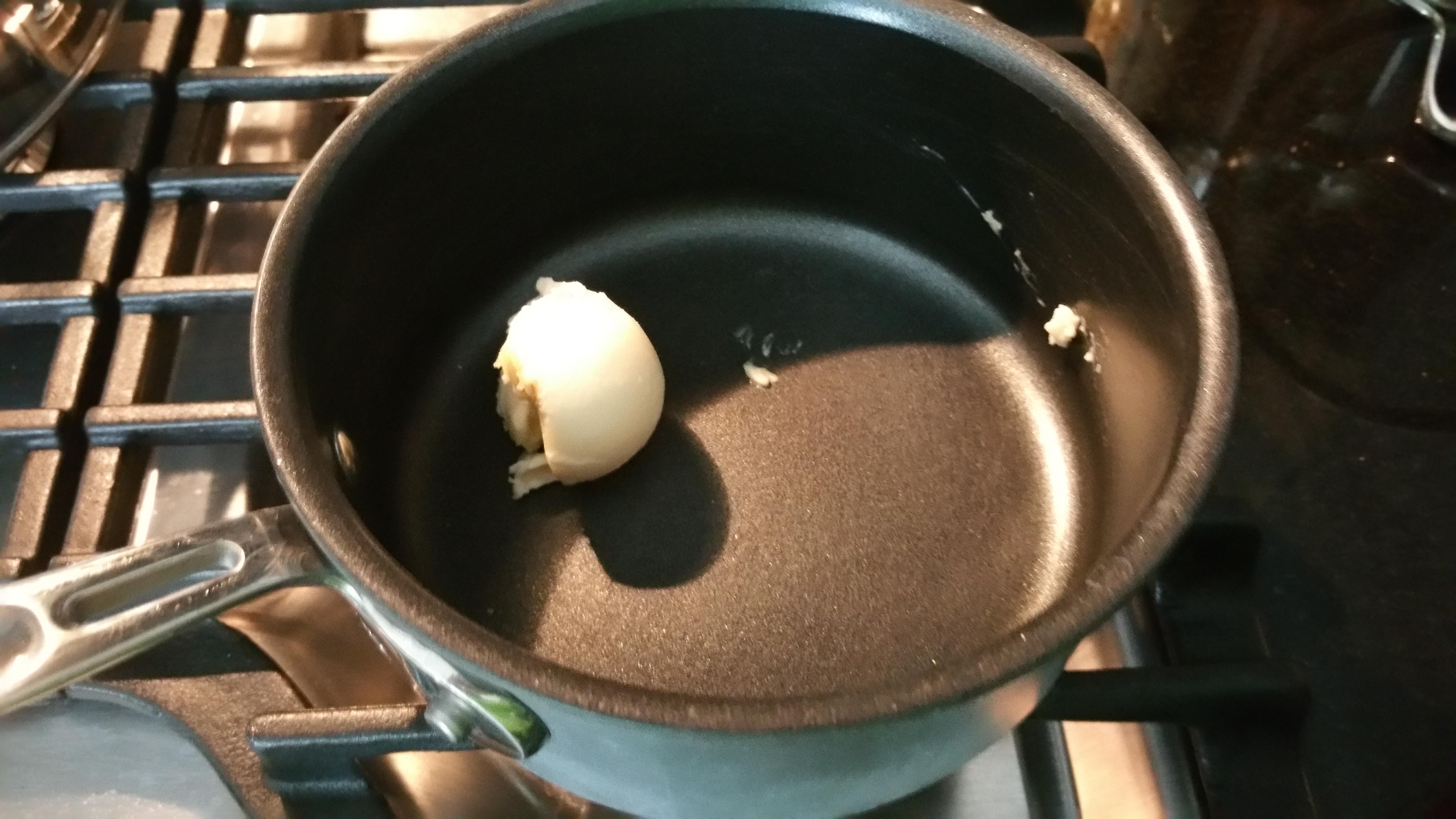Heat butter