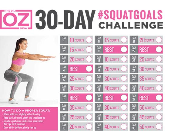 Dr. Oz 30-day squat challenge