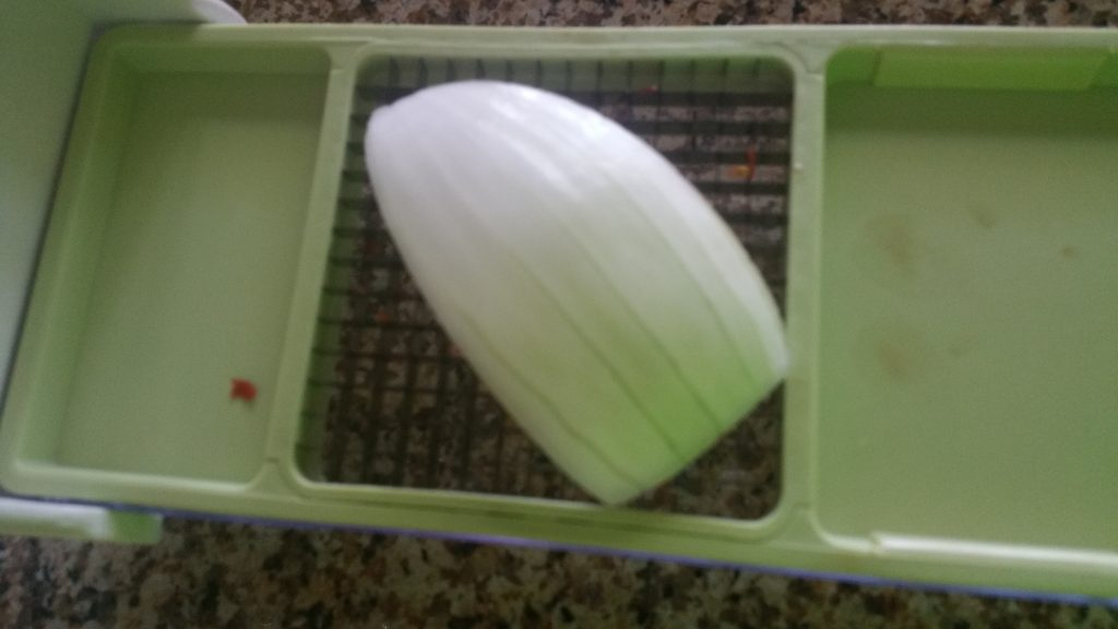 onion cut side down